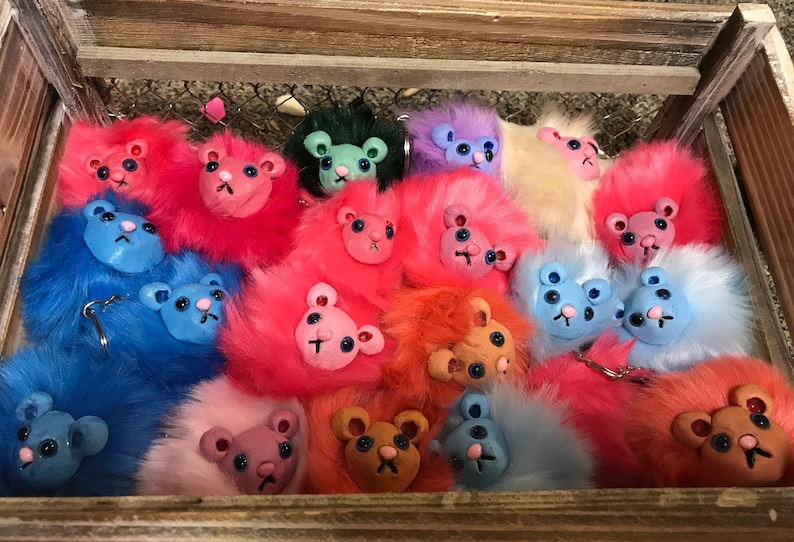 Harry Potter Pygmy Puff Keychain or Shoulder Friend image 0