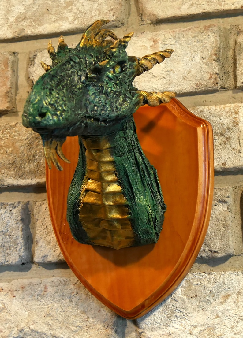 Taxidermy dragon head many colors available image 0