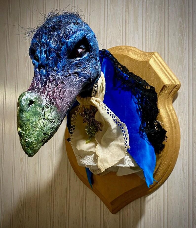 Skeksis Dark Crystal taxidermy Blue Variety image 0