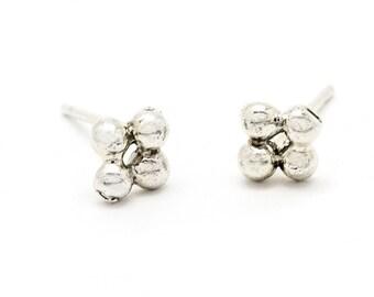 sterling silver stud earrings - flower stud earrings - flower studs - sterling silver earrings - sterling silver studs