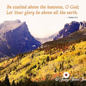 Estes Park Colorado Mountains Autumn Bible Verse Psalms 95 6 Etsy
