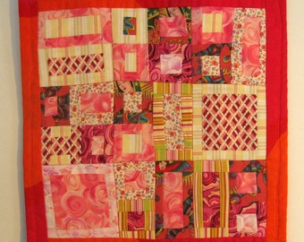 Three Angels ~ a small table mat or doll quilt
