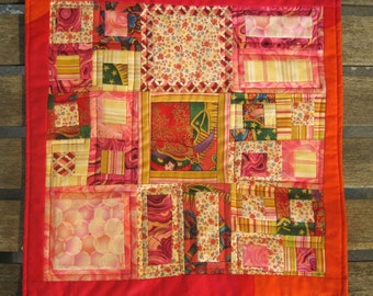 Prayer Hands ~ a small table mat or doll quilt