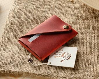 NEW MENS LEATHER Compact Silm North//South WALLET by Woods Great VALUE Gift Box