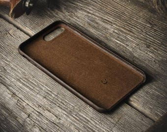 iPhone 7/8 case, iPhone 8 leather case, leather iPhone 7 8 case, iphone 7 cover, iphone 7 hard case,  distressed brown, iphone 8 cover