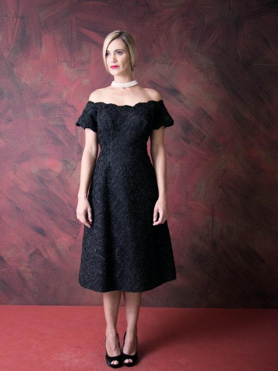 1960's Off Shoulder Dress