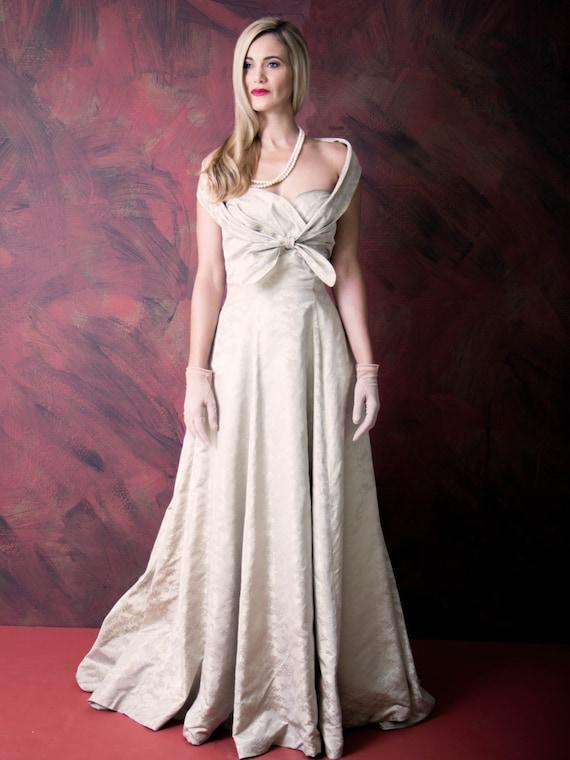 1940's Evening Silk Gown