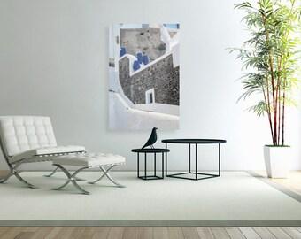 Blue Jars, Greece Photography, Santorini Pictures, Canvas Print, Paper Print, Travel Photography, Wall Art, Home Decor, Office Decor