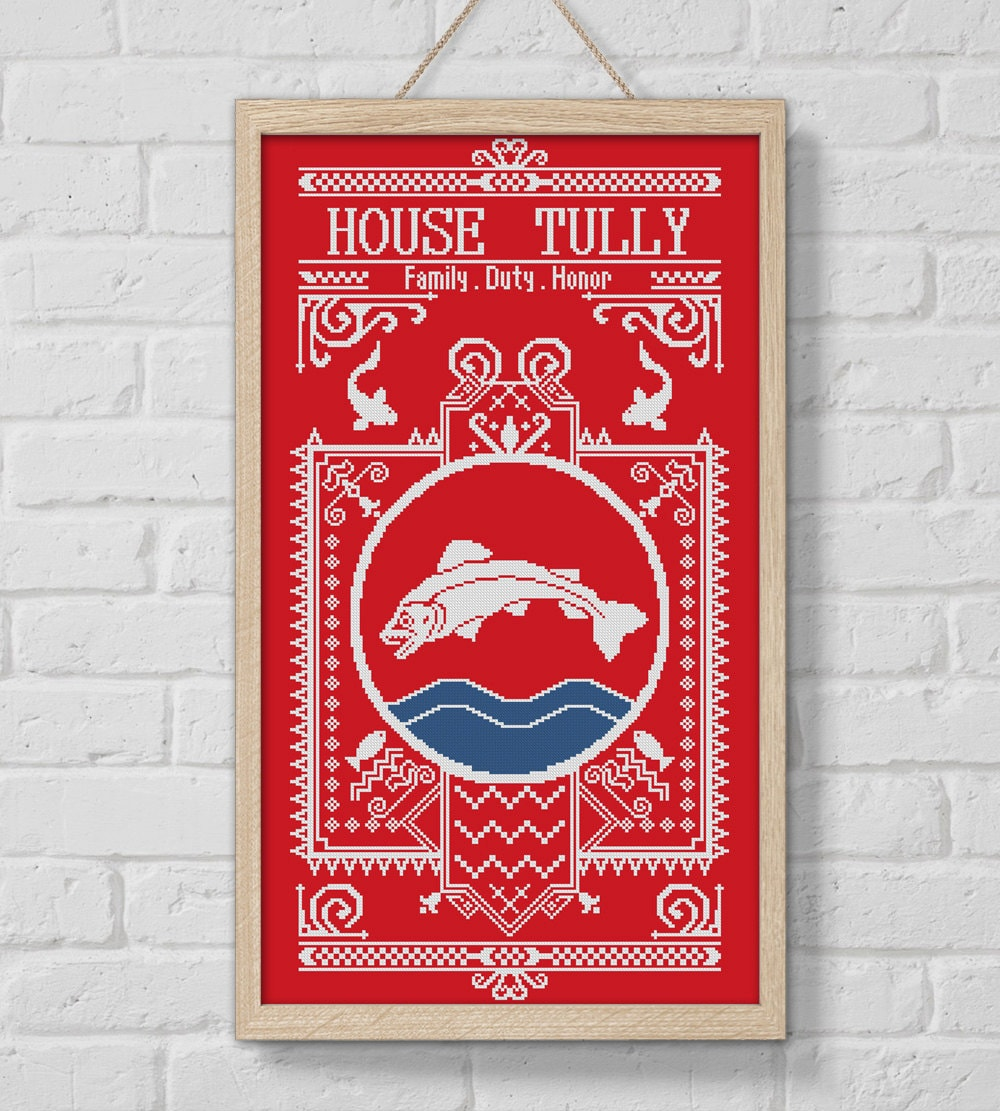 BOGO SALE Cross stitch pattern House Tully Game of Thrones
