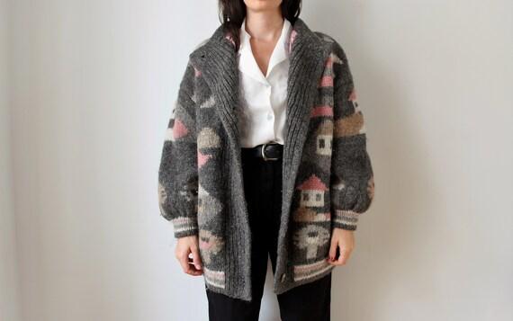 Vintage Wool Cardigan | Chunky Wool Cardigan | Moh