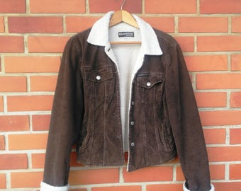 Vintage Brown Corduroy Sherpa Jacket