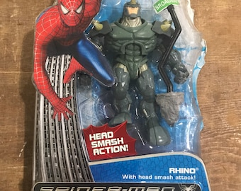 "Spiderman 3 Movie - Head Smash 5"" Action Figure (2007)"