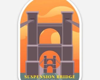 "3"" Sticker - The Suspension Bridge, WACO Texas TX fixer upper hgtv"