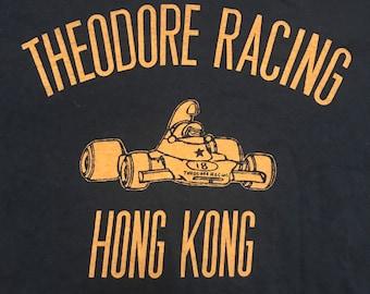 Vintage Formula 1 One Grand Prix Theodore Racing Black T-Shirt, Hong Kong