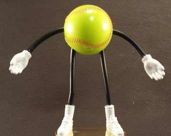 Bendy Softball Trophy - FREE ENGRAVING - Kids Trophy - Great for Recreation Team Awards - Participation Trophy