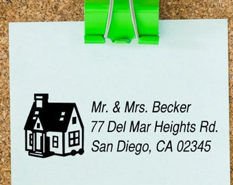 Custom Self-Inking Address Stamp-Self-Inking Rubber Stamp-Custom Design-Personal or Business-Free Personalization-Variety of Colors & Sizes