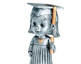 Female Graduate Bobble Head Award - Free Engraving - Graduation Gift - Great for Elementary School Graduations - Free Engraving