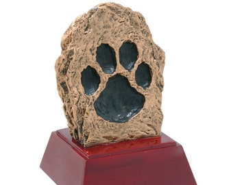 Paw Print Mascot Resin Award - Free Engraving - School and Academic Awards - Team Trophies - Team Awards - Individual Award