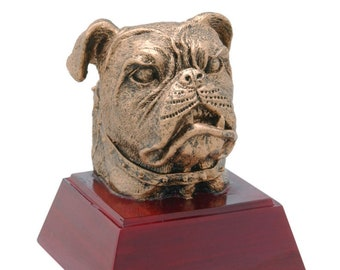 Bulldog Mascot Resin Award - Free Engraving - School and Academic Awards - Individual Award