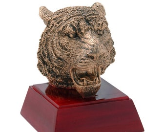 Tiger Mascot Resin Award - Free Engraving - School and Academic Awards - Team Trophies - Team Awards - Individual Award