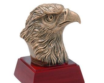 Eagle Mascot Resin Award - Free Engraving - School and Academic Awards - Team Trophies - Team Awards - Individual Award