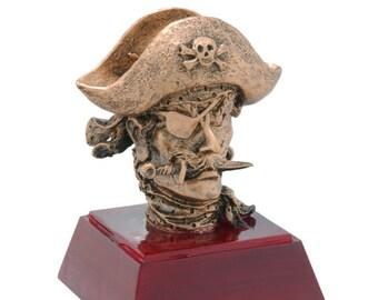 Pirate/Buccaneer Mascot Resin Award - Free Engraving - School and Academic Awards - Individual Award