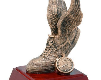 Golden Track Resin Award - Track Trophy - Winged Foot Award - Free Personalization