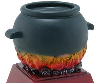 Color Chili Pot Resin Award - Chili Contest Trophy - Cauldron  - Free Personalization