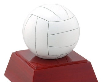 Color Volleyball Resin Award - Volleyball Trophy - 4 Inches Tall - Free Personalization