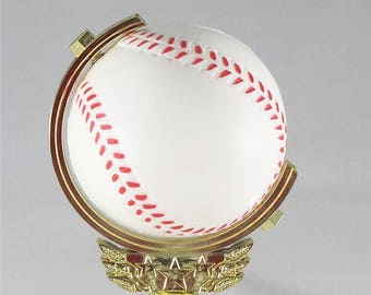 Spinning Baseball Trophy - FREE ENGRAVING