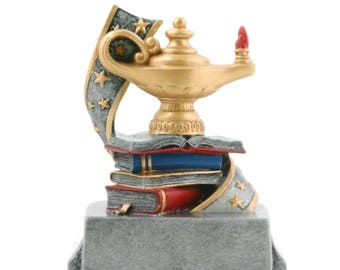 Lamp of Knowledge Resin Award - Academic Award - Scholastic Trophy