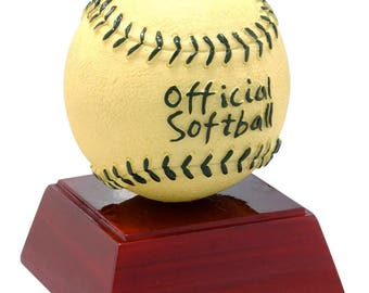Color Softball Resin Award - Softball Trophy - Free Personalization