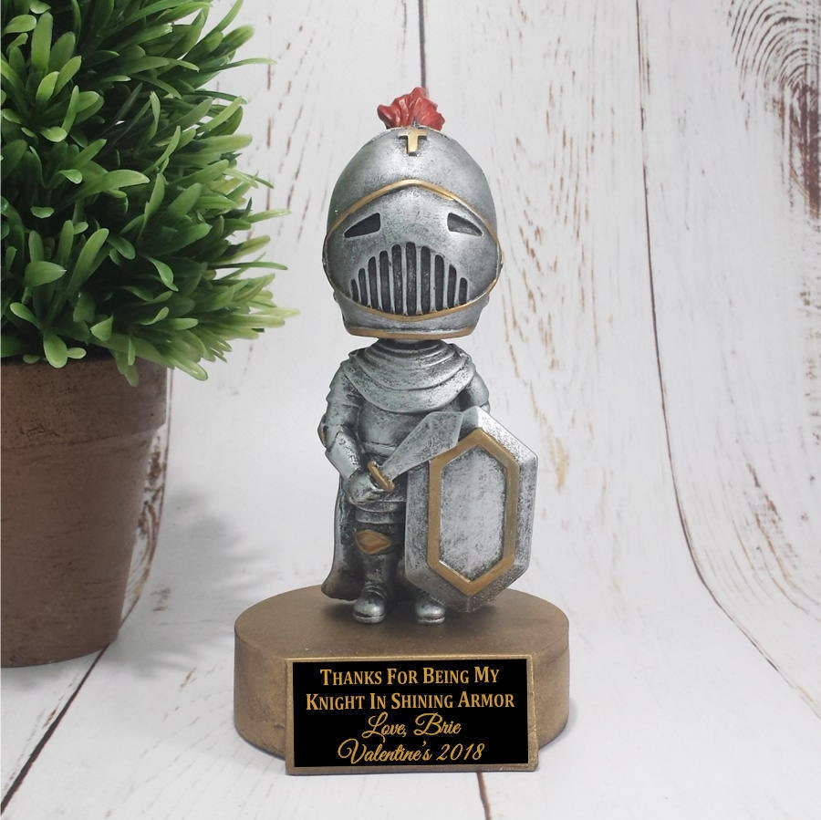knight bobble head resin award great for valentine s day knight