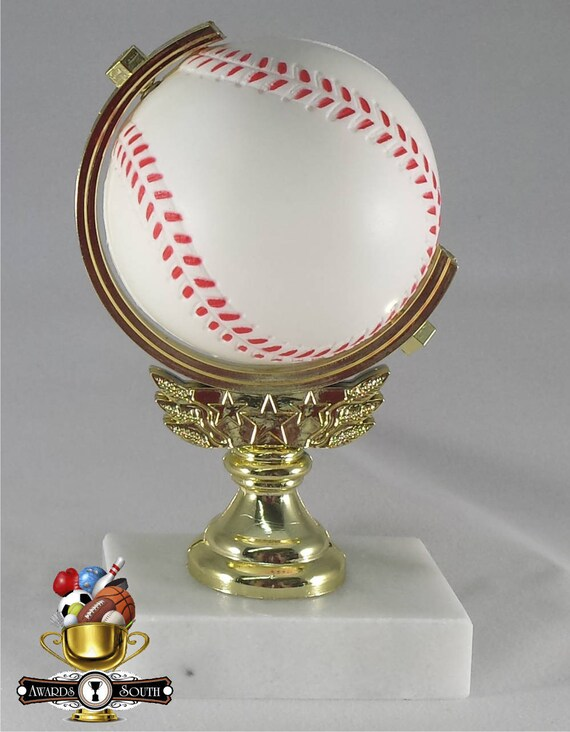 Free Custom Engraving. Softball  Spinning Ball Trophy Baseball