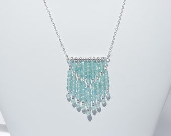 Apatite and sterling silver necklace