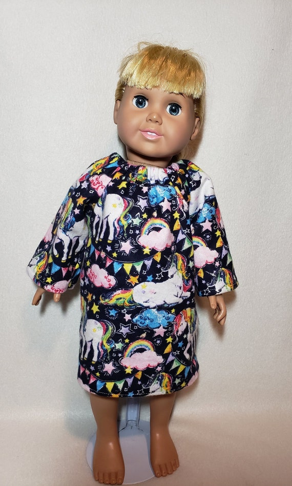 "Unicorn Pajama Set Pillow Handmade 18/"" Doll Clothes Fit American Girl Dolls"