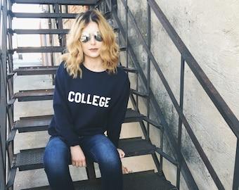 College Crew Neck Sweatshirt, animal house, John Belushi Bluto College Sweatshirt