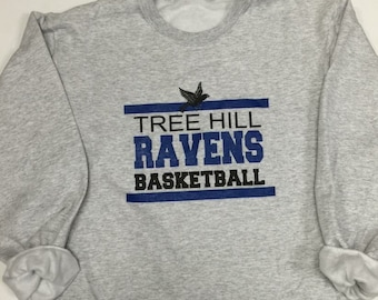 One Tree Hill Ravens Basketball Fleece Crew Sweatshirt