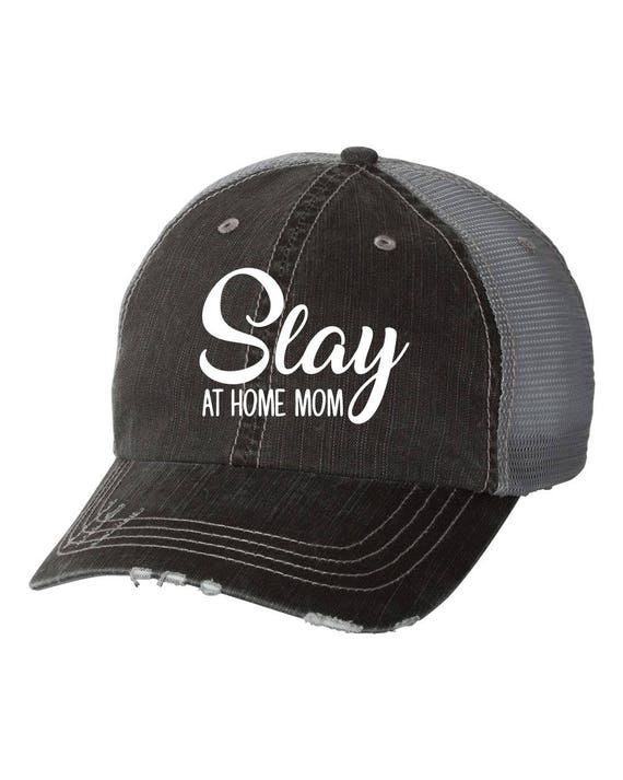 Slay at Home Mom Trucker Hat Summer Hat Spring Break  a467c46a2e7