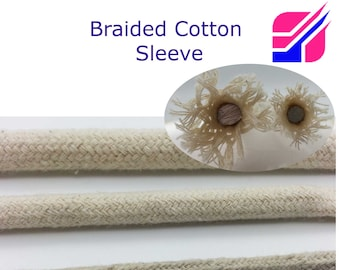 Cotton Cover Cable Wire Tube Sleeve Textile Fabric 4mm 6mm 8mm Protective Braided Sheath Cables Wire Protection