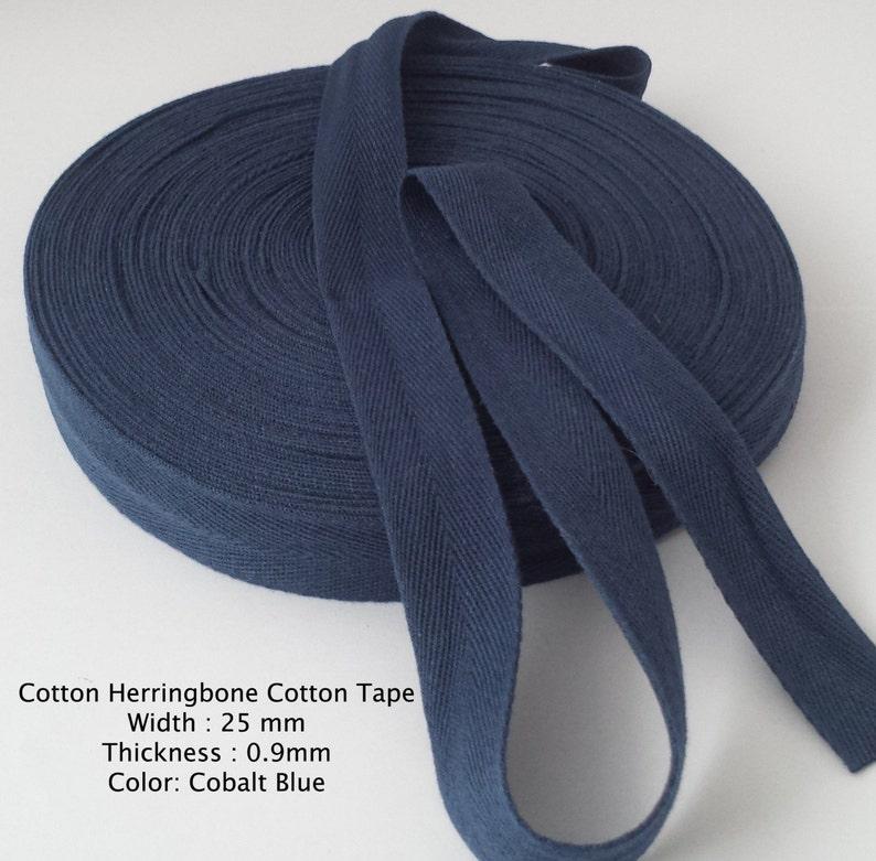 4 length choices White Herringbone 100/% Cotton ribbon//Bunting tape 25mm