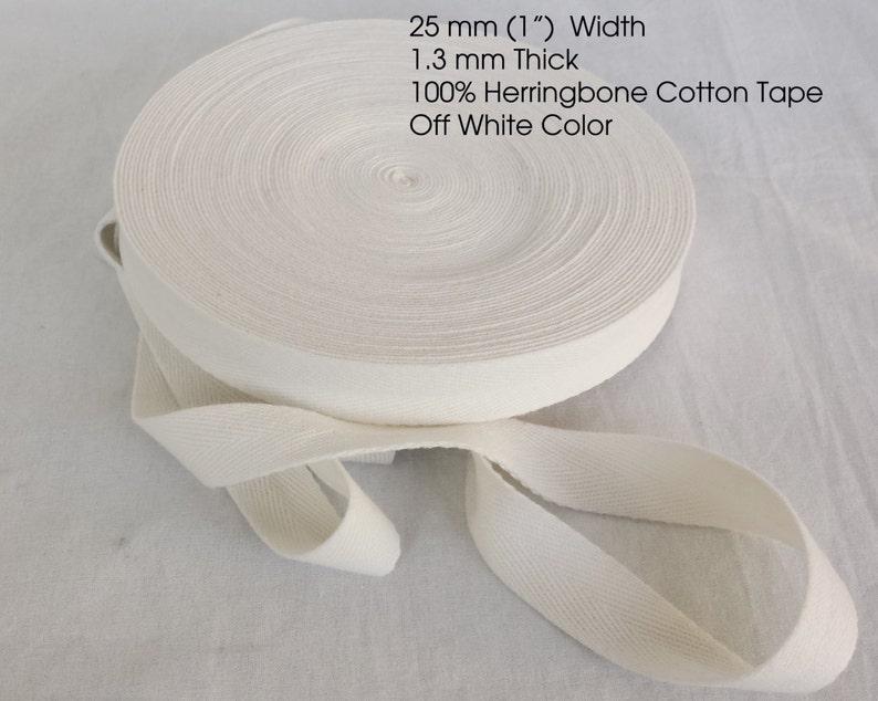Herringbone Tape Webbing Binding Trimming Ribbon Dressmaking Craft 10mm 25mm