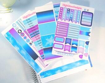 Frozen Erin Condren Planner Stickers Set | Frozen Planner Stickers | Erin Condren Stickers | Erin Condren Planner Sticker Set