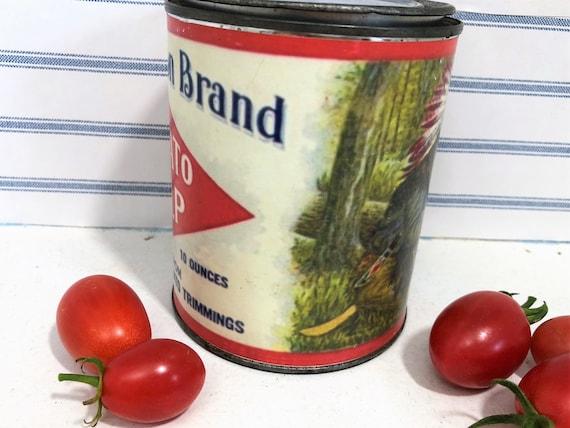 Antique Original WISSAHICKON Tomato Pulp Can Label 1900s NOS