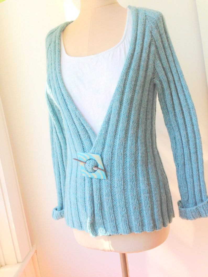 KNITTING PATTERN PDF, Eve's Rib, Womens Ribbed Cardigan, Long Sleeved,  Seamless, Easy to Knit