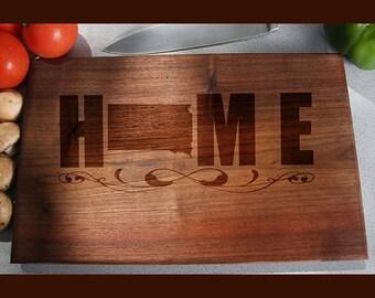 South Dakota Custom Engraved Cutting Board, Wedding Gift, Home Decor, Anniversary Gift, Bridal Gift, Birthday