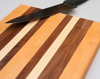 Custom Walnut Cutting Board Handmade, Kitchen Gifts for her, Maple Cutting Board, Cooking Gifts for Him, Cherry Cutting Board, Characuterie