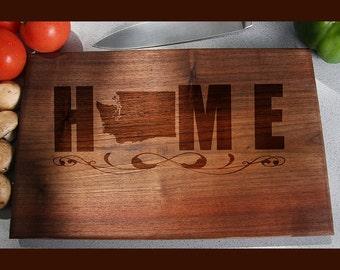 Washington Custom Engraved Cutting Board, Wedding Gift, Home Decor, Anniversary Gift, Bridal Gift, Birthday