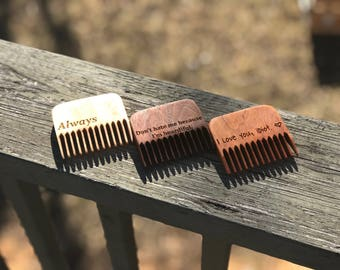 Personalized Beard Comb, Beard Care Products, Wedding Day Gift for Groom, Hipster Gift Man, Grooming Gift, Fathers Day Gift From Wife, Best