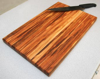 Exotic Wood Cutting Boards Handmade, Chef gift, Tiger Wood Charcuterie Board, Unique Wedding Gift for Couple, christmas from Daughter